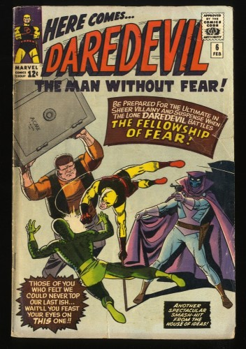 Daredevil #6 FA/GD 1.5 Marvel Comics 1st Mister Fear!