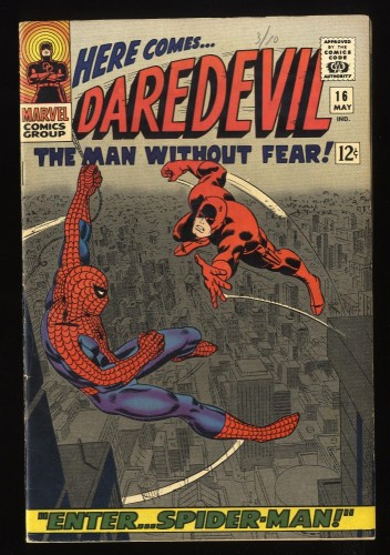 Daredevil #16 FN+ 6.5 Marvel Comics Spider-Man Appearance!