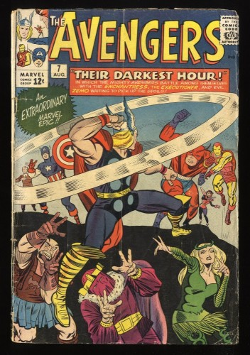 Avengers #7 GD+ 2.5 Marvel Comics Thor Captain America