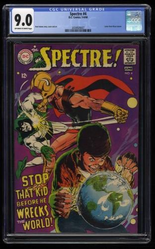 Spectre #4 CGC VF/NM 9.0 Off White to White