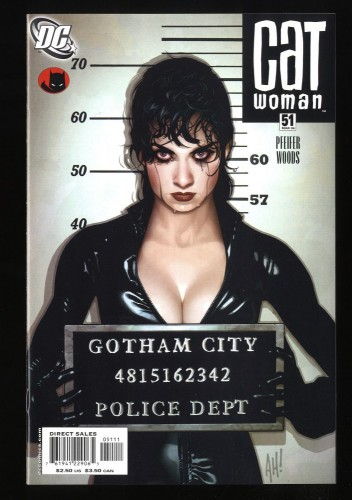 Catwoman (2002) #51 NM/M 9.8 Mugshot Cover Adam Hughes art