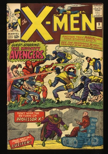 X-Men #9 FN- 5.5 Marvel Comics