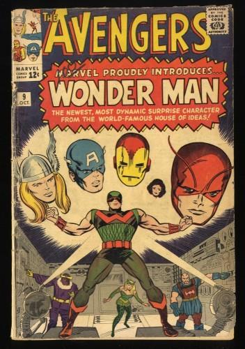 Avengers #9 GD- 1.8 1st Silver Age Wonder Man app.