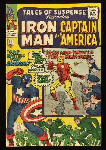 Tales Of Suspense #60 FN- 5.5 Iron Man Captain America 2nd Hawkeye! Iron Man