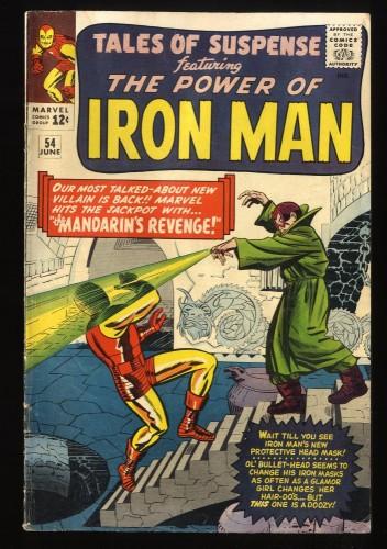 Tales Of Suspense #54 VG 4.0 Iron Man Mandarin!