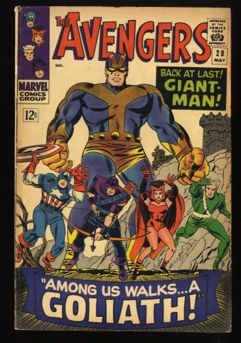 Avengers #28 VG 4.0 Marvel Comics Thor Captain America 1st Collector!
