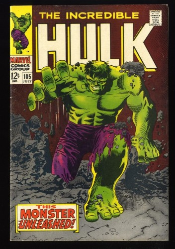 Incredible Hulk (1968) #105 FN- 5.5 1st Missing Link! Marvel Comics