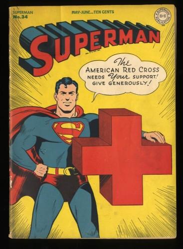 Superman #34 VG+ 4.5