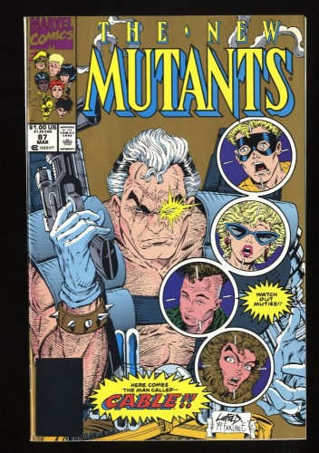 New Mutants #87 NM 9.4 1st Cable! 2nd Print!