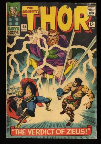 Thor #129 VG- 3.5 Marvel Comics Zeus! Hercules!