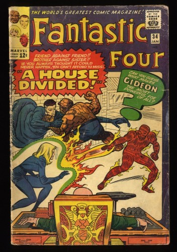 Fantastic Four #34 GD- 1.8 Marvel Comics