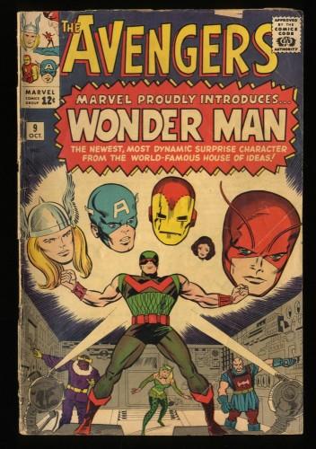 Avengers #9 GD 2.0 1st Silver Age Wonder Man app.