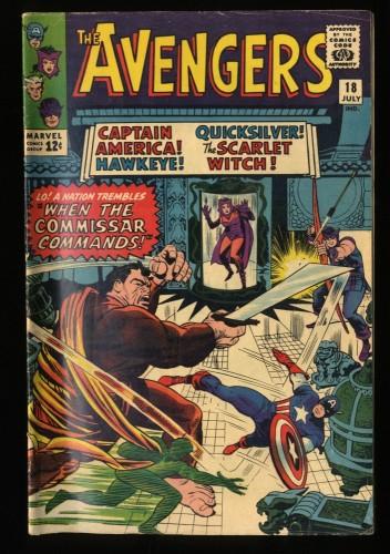 Avengers #18 VG 4.0 Marvel Comics Thor Captain America