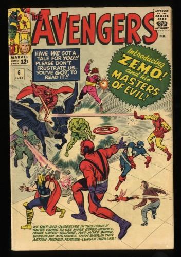 Avengers #6 FN 6.0 Marvel Comics Thor Captain America