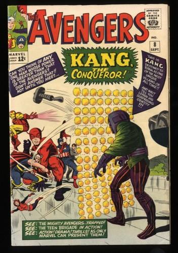 Avengers #8 VF 8.0 Marvel Comics Thor Captain America 1st Kang!
