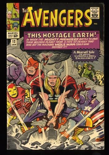 Avengers #12 VF- 7.5 Marvel Comics Thor Captain America
