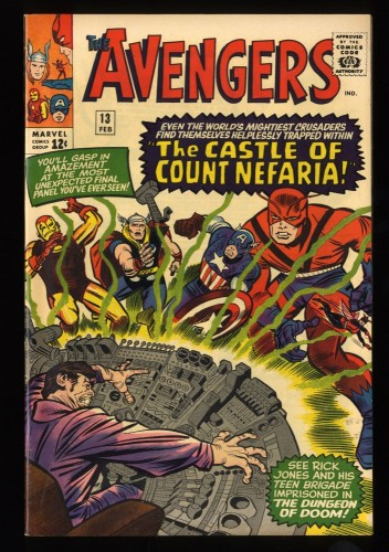 Avengers #13 VF/NM 9.0 Marvel Comics Thor Captain America Stunning Copy!