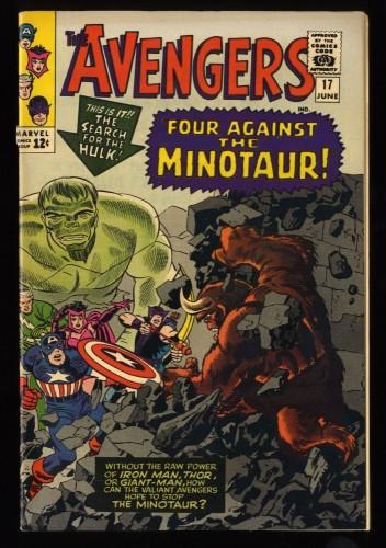 Avengers #17 FN- 5.5 Marvel Comics Thor Captain America