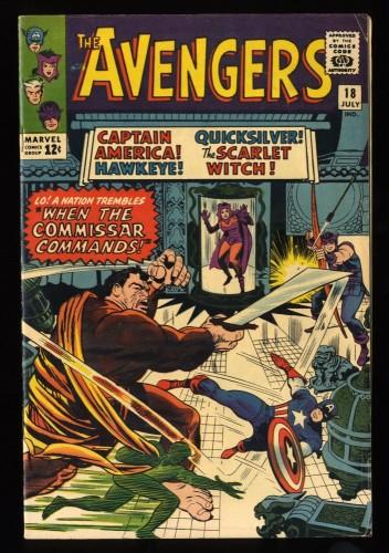 Avengers #18 FN+ 6.5 Marvel Comics Thor Captain America