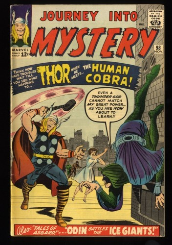 Journey Into Mystery #98 VF 8.0 Marvel Comics Thor Stunning Copy!