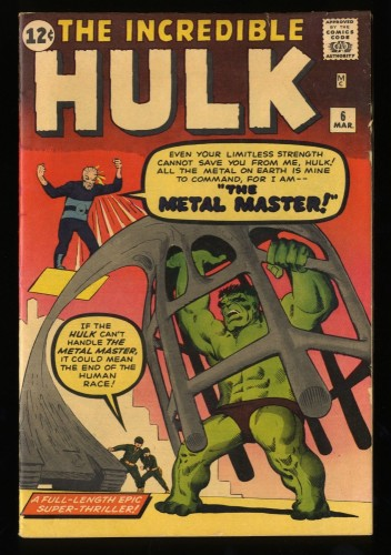 Incredible Hulk (1962) #6 FN+ 6.5 (Restored)