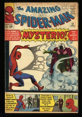 Amazing Spider-Man #13 VG/FN 5.0 1st Mysterio! Marvel Comics Spiderman