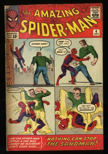 Amazing Spider-Man #4 VG 4.0 1st Sandman! Marvel Comics Spiderman