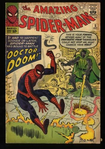 Amazing Spider-Man #5 VG+ 4.5 Doctor Doom! Marvel Comics Spiderman