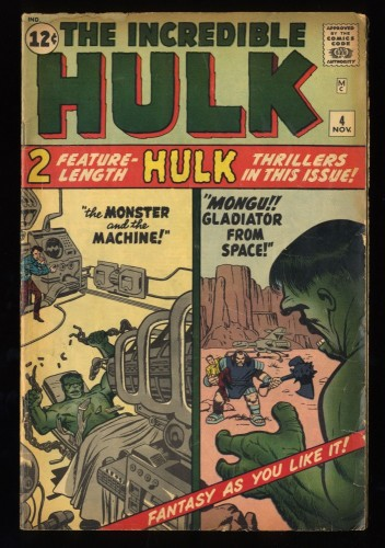 Incredible Hulk (1962) #4 VG- 3.5