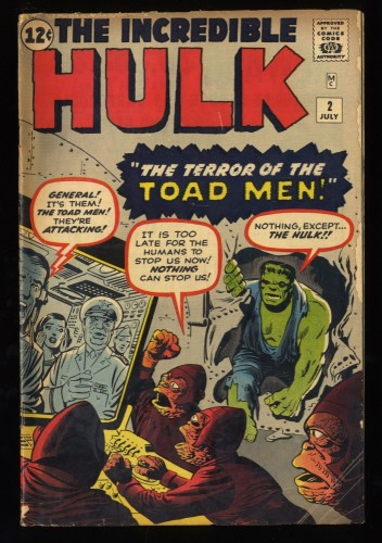 Incredible Hulk (1962) #2 GD+ 2.5 1st Green Hulk!