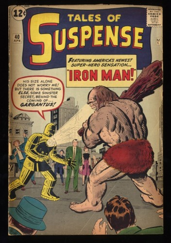Tales Of Suspense #40 GD+ 2.5 2nd Iron Man! Iron Man