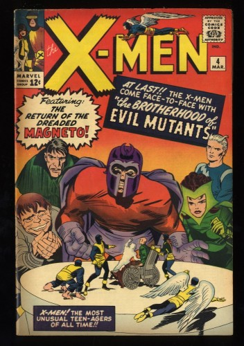 X-Men #4 VG/FN 5.0 1st Scarlet Witch and Quicksilver! Marvel Comics