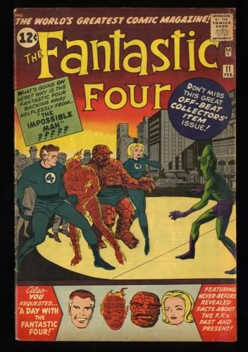 Fantastic Four #11 VG+ 4.5 Marvel Comics