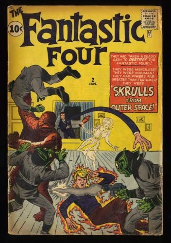 Fantastic Four #2 GD/VG 3.0 Marvel Comics