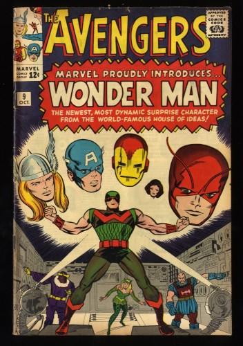 Avengers #9 FN- 5.5 1st Silver Age Wonder Man!