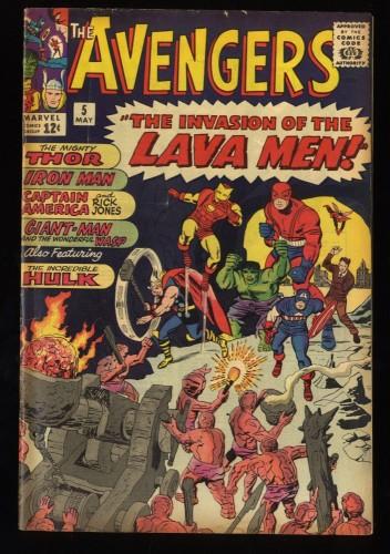 Avengers #5 VG/FN 5.0 Marvel Comics Thor Captain America