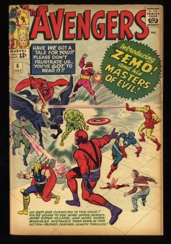 Avengers #6 VG+ 4.5
