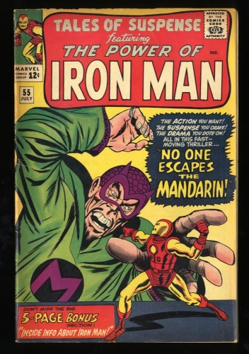 Tales Of Suspense #55 VG+ 4.5 Mandarin! Iron Man