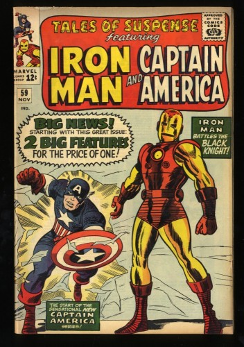 Tales Of Suspense #59 FN- 5.5 Captain America Iron Man! Iron Man
