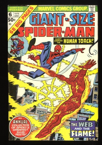 Giant-Size Spider-Man #6 VF- 7.5 Human Torch!