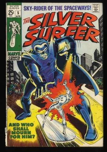 Silver Surfer #5 VG- 3.5 Marvel Comics