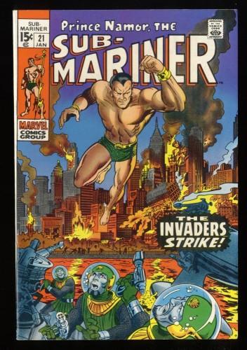 Sub-Mariner #21 VF+ 8.5 Marvel Comics