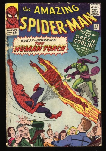 Amazing Spider-Man #17 GD- 1.8 2nd Green Goblin! Marvel Comics Spiderman