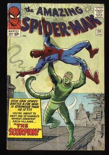 Amazing Spider-Man #20 GD/VG 3.0 1st Scorpion! Marvel Comics Spiderman