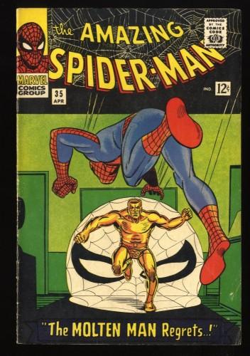 Amazing Spider-Man #35 VG/FN 5.0 Meteor Man! Marvel Comics Spiderman