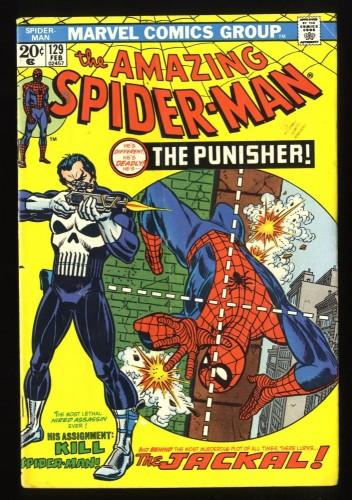 Amazing Spider-Man #129 VG 4.0 1st Punisher! Marvel Comics Spiderman