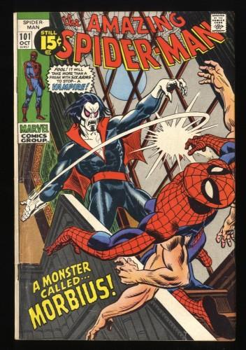 Amazing Spider-Man #101 VG+ 4.5 1st Morbius! Marvel Comics Spiderman