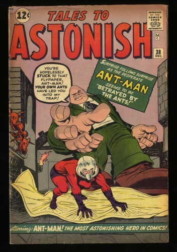 Tales To Astonish #38 GD/VG 3.0 1st Egghead! giant ant man hulk