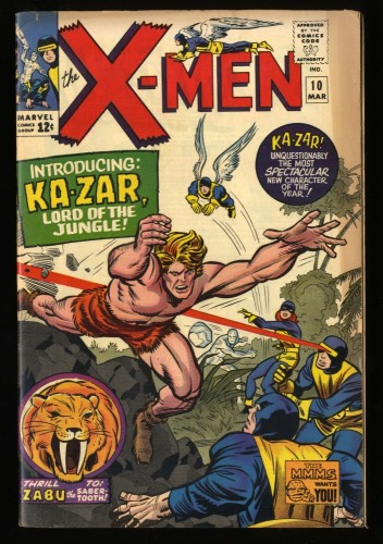 X-Men #10 GD/VG 3.0 1st Ka-Zar! Marvel Comics