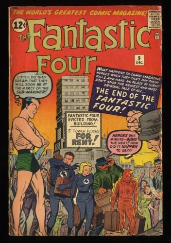 Fantastic Four #9 GD 2.0